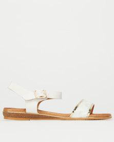 Utopia Snake Comfort Sole Sandal White