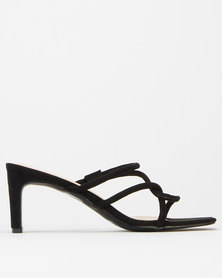Utopia Square Toe Soft Strippy Mule Black