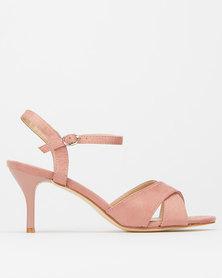 Utopia Ankle Strap Kitten Heel Dusty Pink