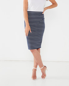 Queenspark Two Pack Knit Pencil Skirt Multi