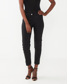 cath.nic By Queenspark Plain 7/8'S Woven Trousers Black