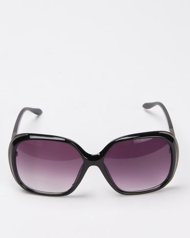Queenspark Gun Metal Sunglasses Black