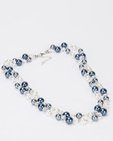 Queenspark Double Row Pearl Necklace Multi