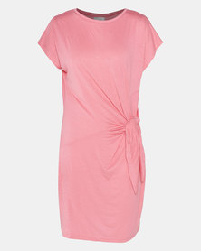 The Hannah Grace Pink Knottted Dress