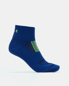Falke Performance Neon Runner Anklet Unisex Electric Blue