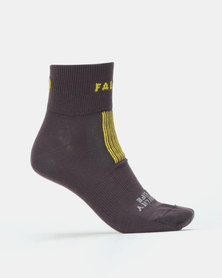 Falke Performance Visibility Is Life Anklet Unisex Socks Carbon Grey