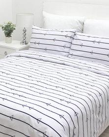 Sheraton Rowlan Duvet Cover Set White
