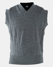 Schoolwear SA Girls School Sleeveless Jersey Grey