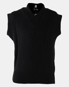 Schoolwear SA Girls School Sleeveless Jersey Black