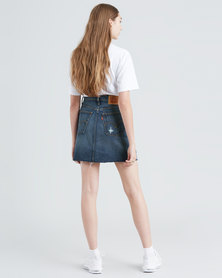 Levi's ® High Rise Deconstructed Iconic Skirt Blue