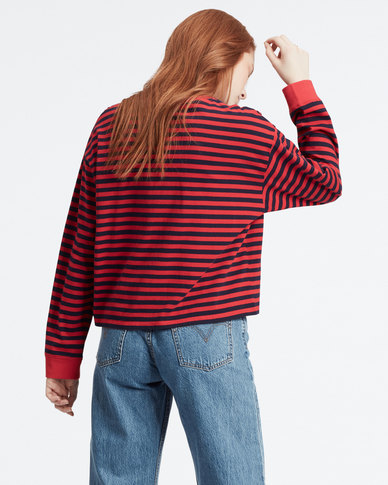 Levi's ® Long Sleeve Graphic Tee Red