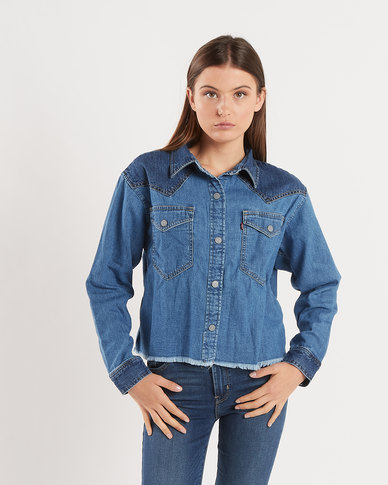 Mirella Raw Edge Western Shirt