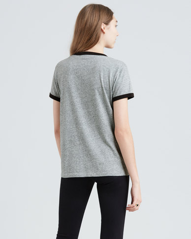 Levi's ® Perfect Ringer Graphic Tee Grey