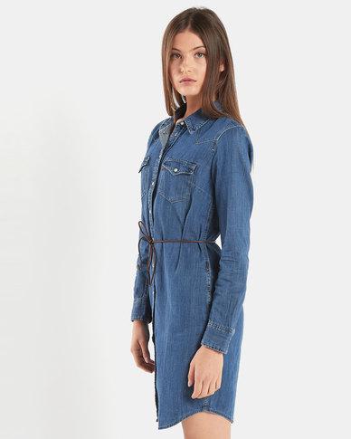 Levi's ® Ultimate Western Dress Blue