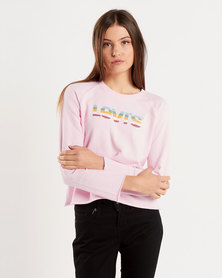 Levi's ® Graphic Gym Crewneck Sweatshirt Pink