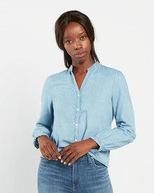 Levi's Sadie Button Back Shirt Blue