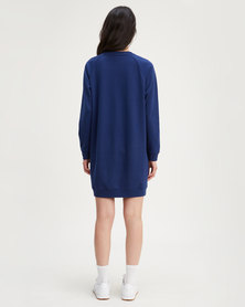 Levi's® Crew Sweatshirt Dress Blue