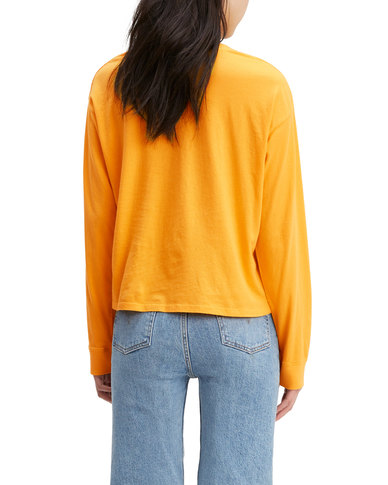 Levi's ® Long Sleeve Graphic Tee Yellow
