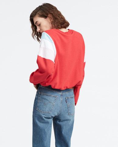 Levi's ® Florence Crew Sweatshirt Red