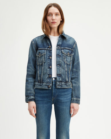 Levi's® Made & Crafted® Boyfriend Trucker Jacket Blue
