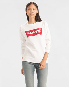 Levi's ® Relaxed Graphic Crewneck Sweatshirt White