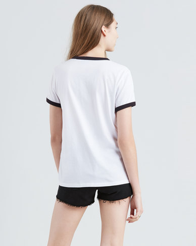 Levi's ® Perfect Ringer Tee White
