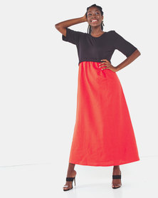 Famous Jessie maxi dress in Orange