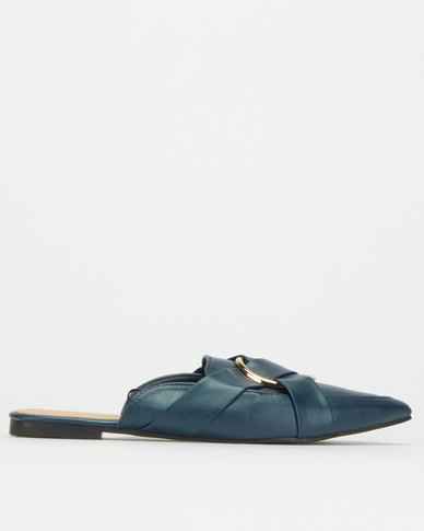 Legit S1 Slip-On Loafers with Vamp Overlay & Circle Trim Navy