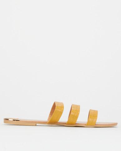 Legit S19 Mule Strap with Metal Inserts Mustard