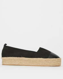 Legit S19 Fabric Espadrille Slip-On Shoes Black Multi
