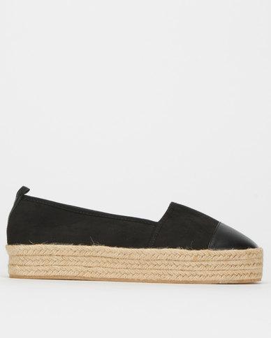 Legit S19 Fabric Espadrille Slip-On Shoes Black Multi