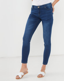 Legit Darted Push-Up Skinny Jeans Ink