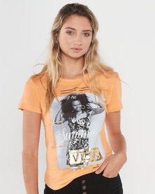 Legit Opp Photo Summer Tee Coral