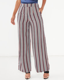Legit Wide Leg Stripe Pants Multi