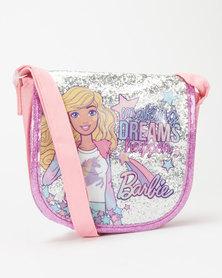 Character Brands Girls Barbie Sling Bag Pink