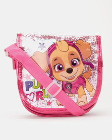 Character Brands Girls Paw Patrol Sling Bag Pink
