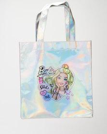 Character Brands Girls Barbie Shopper Bag Silver