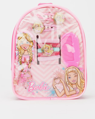 Character Brands Barbie Hair Accessories Bag Pink