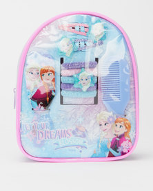 Character Brands Frozen Hair Accessories Bag Blue