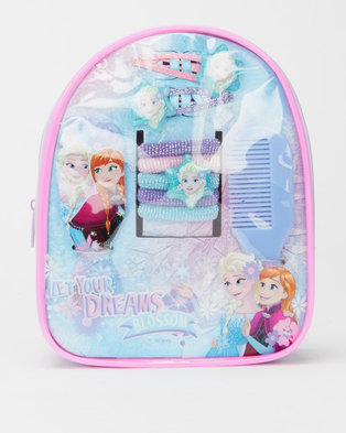 Character Brands Frozen Hair Accessories Bag Blue