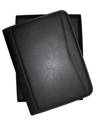 Mossilo Professional A4 PU Leather Business Portfolio - Black