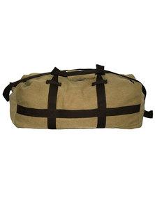 Fino Cotton Canvas Duffel Bag for Overnight & Weekend Luggage-Khaki