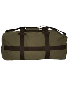 Fino Cotton Canvas Duffel Bag for Overnight & Weekend Luggage-Green