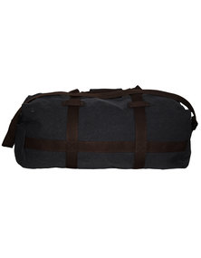 Fino Cotton Canvas Duffel Bag for Overnight & Weekend Luggage-Black