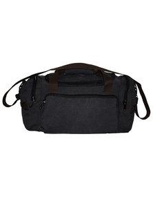 Fino Overnight Hand & Shoulder Canvas Duffel Bag-Black