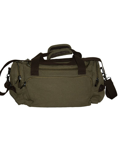 Fino Overnight Hand & Shoulder Canvas Duffel Bag-Green