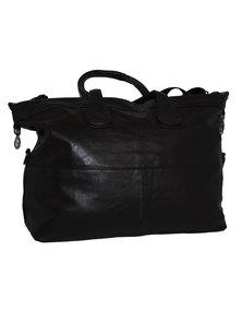 Fino PU Leather Weekend Duffle Bag - Black