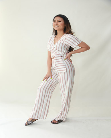 INFIN8TI High-waist Stripe Pants
