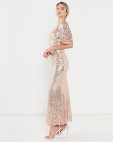 Glitz n Glam Sequin Gown - Rose Gold