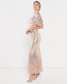 Princess Lola Boutique - Glitz n Glam Sequin Gown - Rose Gold
